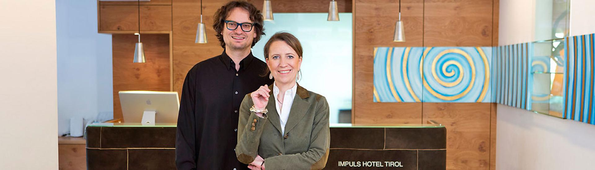 Ihre Gastgeberfamilie begrüßt Sie im Impuls Hotel Tirol