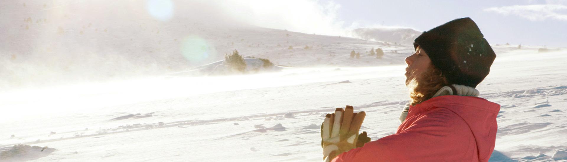 Erleben Sie Yoga im Schnee in Bad Hofgastein